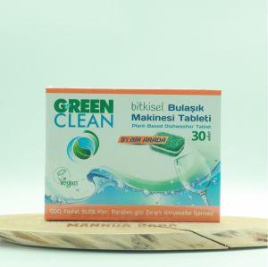 GREEN CLEAN BİTKİSEL BULAŞIK MAKİNESİ TABLETİ